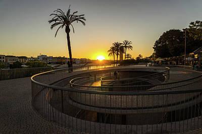 Photograph - Spiral Sunset With Palms by Georgia Mizuleva