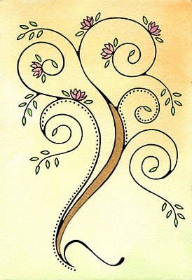 Spiral Tree Art Print by Nora Blansett