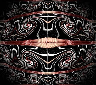 Digital Art - Spiral Wind Globe by Michael Hurwitz