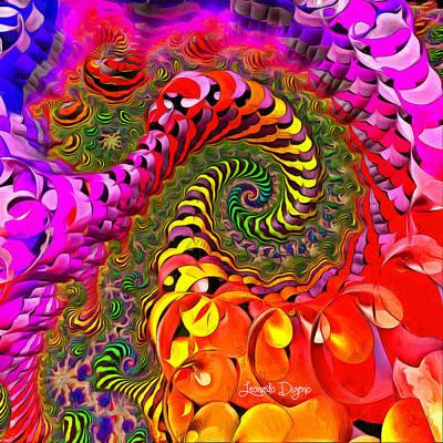 Swirl Painting - Spiral World by Leonardo Digenio