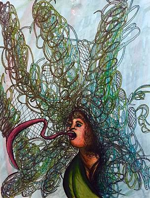 Creepy Mixed Media - Spiraled by Ethan Dennis