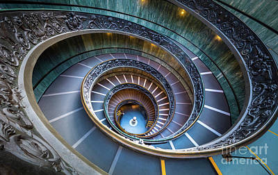 Spiral Staircase Photograph - Spiraling Down by Inge Johnsson