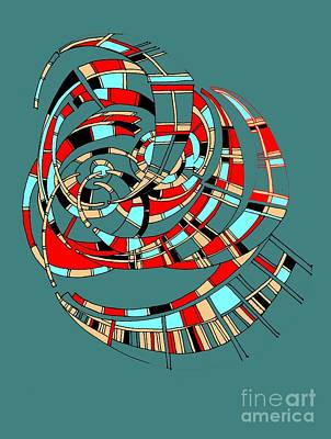 Painting - Spiraling Into Plaid by Nancy Kane Chapman