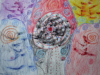 Bipolar Mixed Media - Spiraling by Sam Persons