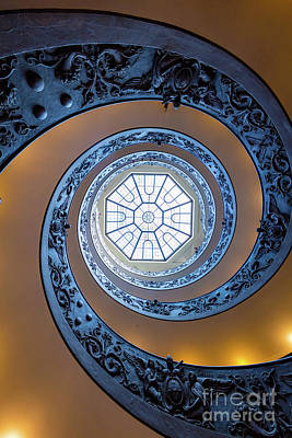 Spiral Staircase Photograph - Spiraling Towards The Light by Inge Johnsson