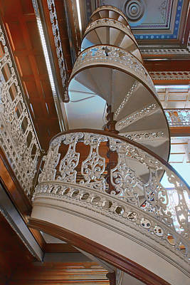 Photograph - Spiraling Up - State Library - Iowa  by Nikolyn McDonald