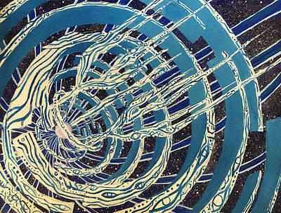 Spiraling Voyage Art Print