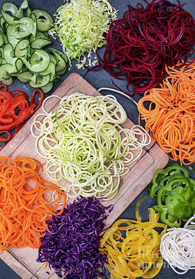 Zucchini Photograph - Spiralized Vegetables by Tim Gainey