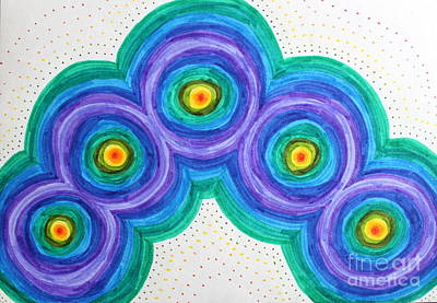 Drawing - Spiralling Cores by Samiksa Art