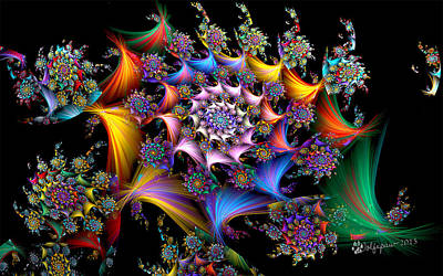 Abstract Digital Digital Art - Spirals And More Spirals by Peggi Wolfe