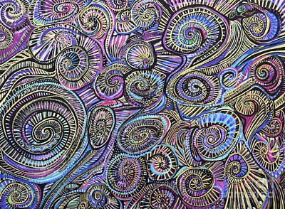 Painting - Spirals And Spirals  by Expressionistart studio Priscilla Batzell