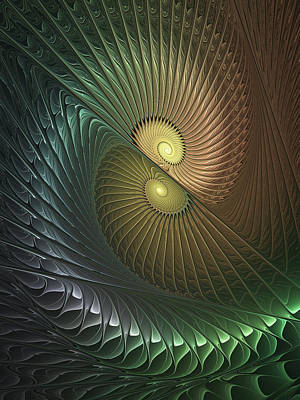 Digital Art - Spirals In Love by Gabiw Art