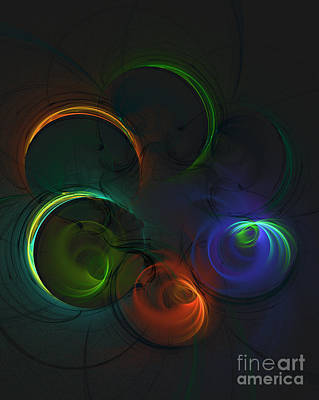 Science Fiction Royalty-Free and Rights-Managed Images - Spirals of Color by Raphael Terra