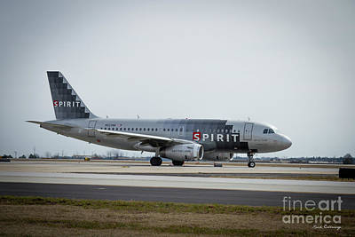 Photograph - Spirit Airlines A319 Airbus N523nk Airplane Art by Reid Callaway