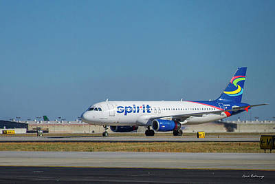 Art Print featuring the photograph Spirit Airlines Airbus A320 N608nk Airplane Art by Reid Callaway