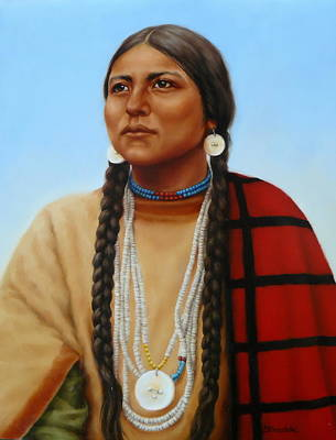 Painting - Spirit And Dignity-native American Woman by Margaret Stockdale