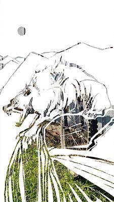 Painting - Spirit Animal . Wolverine by John Jr Gholson