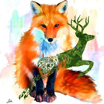 Digital Art - Spirit Animals by Laura Botsford