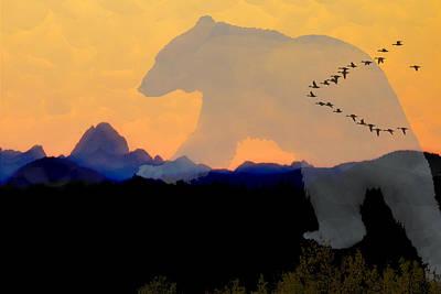 Spirit Bear # 7 Art Print by Ed Hall