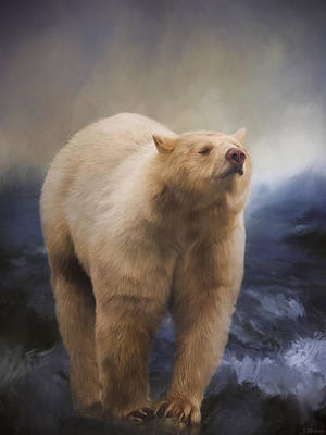 Painting - Spirit Bear - Kermode Bear Art by Jordan Blackstone