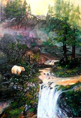Kermode Painting - Spirit Bear by Sherry Shipley