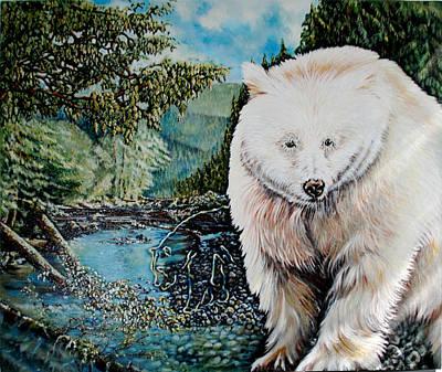 Kermode Painting - Spirit Bear by Susan Moore