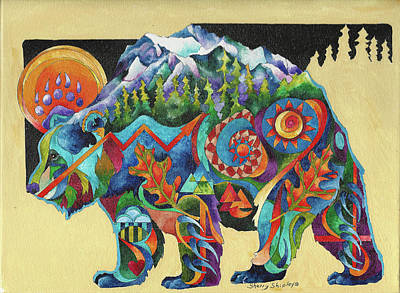Painting - Spirit Bear Totem by Sherry Shipley