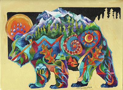 Spirit Bear Totem Art Print