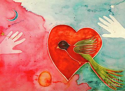 Wings Of A Bird Painting - Spirit Bird by Ann Garrett
