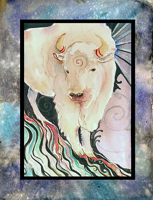 Painting - Spirit Buffalo by Christie Michelsen
