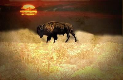 Digital Art - Spirit Buffalo by Rusty R Smith