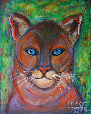 Painting - Spirit Cougar by Misty Frederick-Ritz