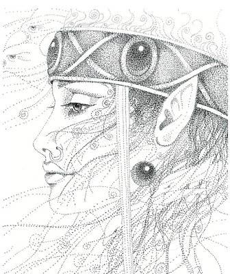 Spirit Guide Art Print by Christine Winters