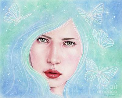 Drawing - Spirit Guide Dream by Mayumi Ogihara