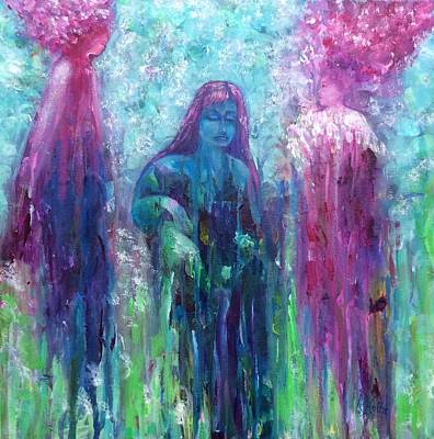 Painting - Spirit Guides Surround Us by Arlene Holtz