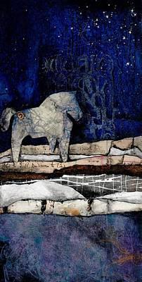Horse Mixed Media - Spirit Horse Of Evening Splender by Laura  Lein-Svencner