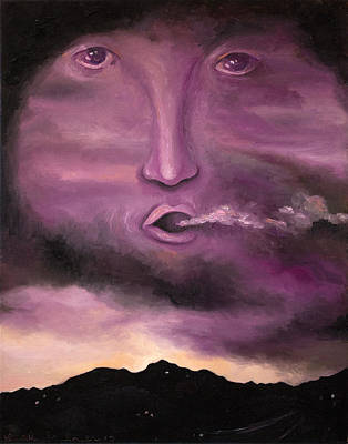 Spirit In The Clouds Art Print by Leah Saulnier The Painting Maniac