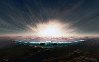 Sun Rays Digital Art - Spirit In The Sky by Peter Chilelli