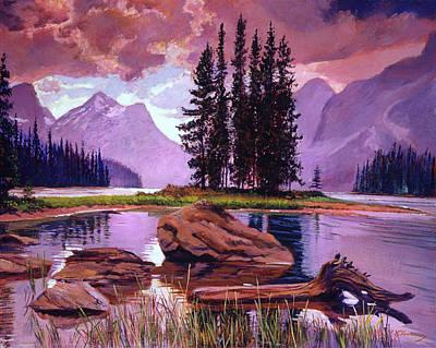 River Rocks Painting - Spirit Island by David Lloyd Glover