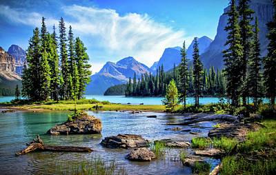 Photograph - Spirit Island On Maligne Lake by Carolyn Derstine