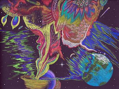 Earth Star Drawing - Spirit Journey by Nila Taylor