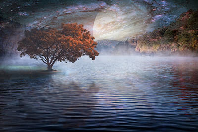Park Scene Digital Art - Spirit Lake by Debra and Dave Vanderlaan