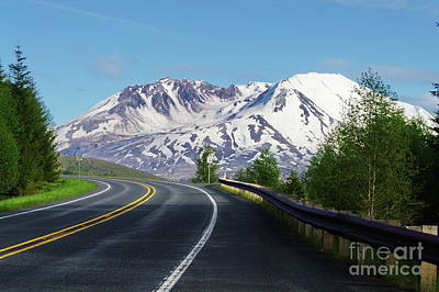 Photograph -  Spirit Lake Highway To Mt. St. Helens by Ansel Price