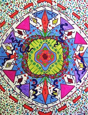 Kaleidoscope Drawing - Spirit by Megan Howard