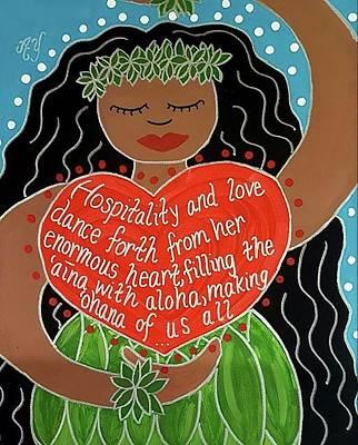 Painting - Spirit Of Aloha by Angela Yarber