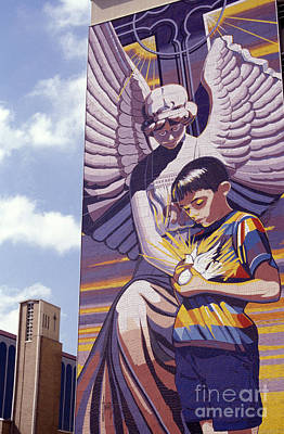 Photograph - Spirit Of Healing Mural San Antonio Texas by John  Mitchell