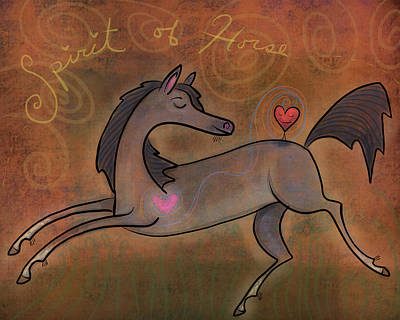 Digital Art - Spirit Of Horse by Marti McGinnis