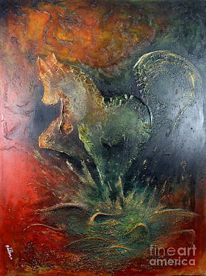 Painting - Spirit Of Mustang by Farzali Babekhan