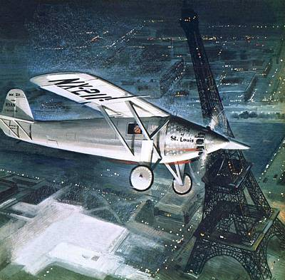 Lindbergh Painting - Spirit Of St Louis by English School