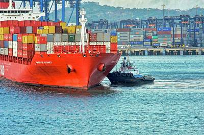 Photograph - Spirit Of Sydney Container Ship by Kirsten Giving